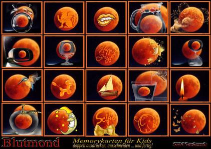 Blutmond- Memory-Karten für Kids (Freeware)