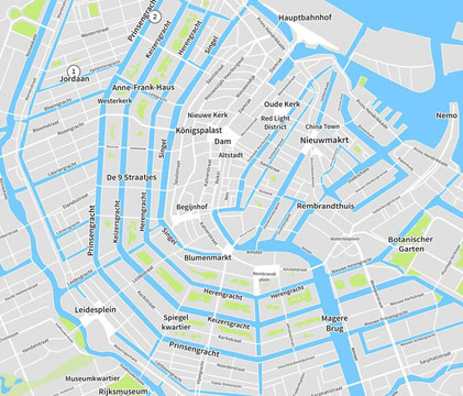 Stadtplan Amsterdam- entnommen: https://www.mr-amsterdam.de/