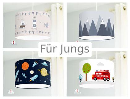 Lampen Lampenschirme für Jungs Jungszimmer Feuerwehr Autos Maritim Babyzimmer Babyjunge