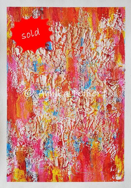 Gips, Kleber, Acryl, Pastellkreide auf Plakatkarton 68 x 48 cm