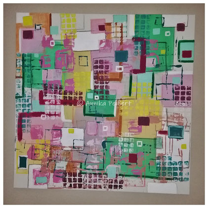 Acryl auf Baumwoll-Keilrahmen, 100 x 100 cm