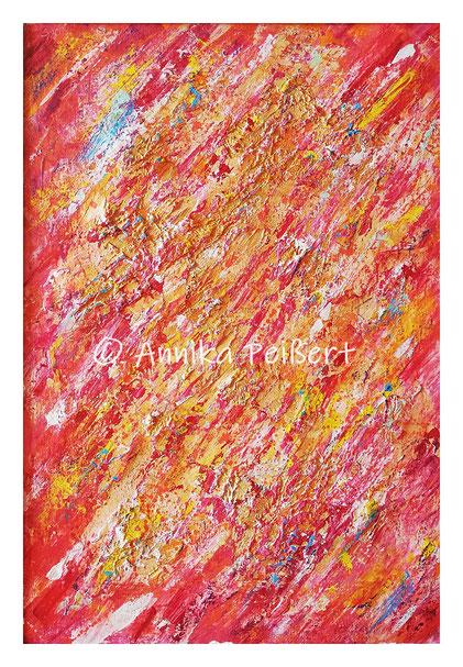 Acryl, Pastellkreide auf Plakatkarton, Gips, Kleber 68 x 48 cm