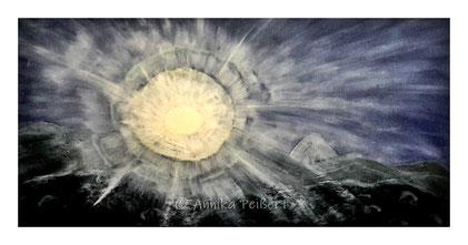 Acry, Strukturpaste auf Keilrahmen, 50 x 100 cm