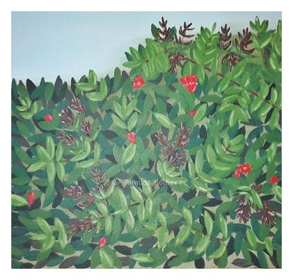 Acryl auf Keilrahmen, 70 x 70 cm (Details mit Pastell-Ölkreiden)