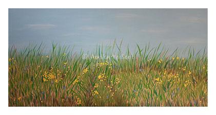 Acryl auf Leinen-Keilrahmen, 70 x 140 cm (Ausschnitt)