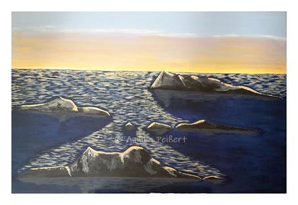 Acryl auf Leinen-Keilrahmen, 80 x 120 cm