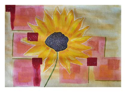 mixedmedia auf Papier, 42 x 56 cm