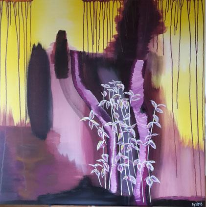 Acryl auf Leinen-Keilrahmen, 100 x 100 cm