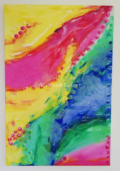 Acryl auf Baulwoll-Keilrahmen 120 x 80 cm