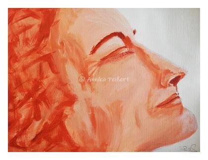 Studie Acryl auf Papier mit Leinenprägung 24 x 32  cm