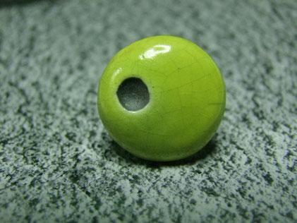 bague ronde en ceramique verte