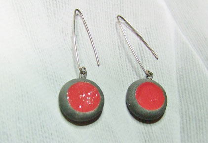 boucles d'oreilles en poterie