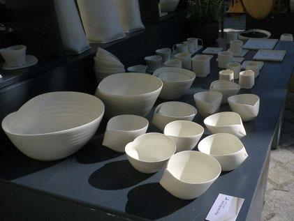 stand de porcelain marche des potiers le vigan