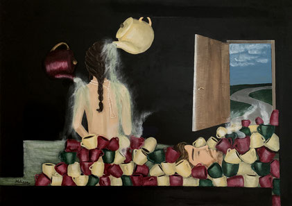 """""""Cleaning"""", 50x70 cm"""