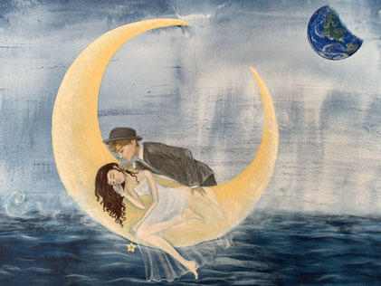 """Moon dream"", 80x100 cm"