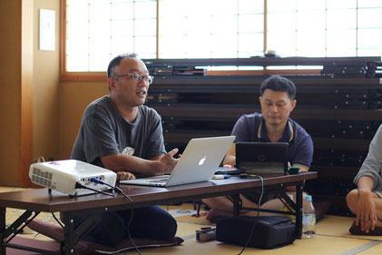 今回のゲスト、まなびの森の坂本さん(左)。