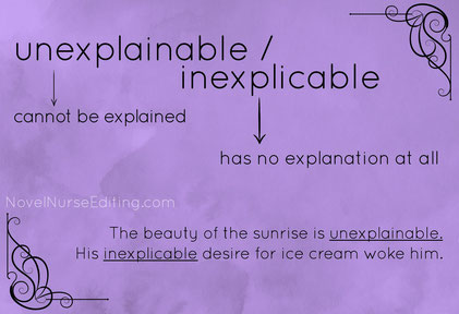 unexplainable or inexplicable