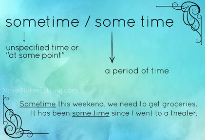 sometime or some time