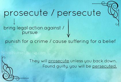 prosecute or persecute