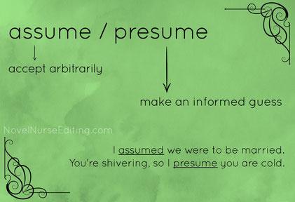 assume or presume