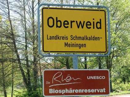 Oberweid liegt im Biosphärenreservat Rhön