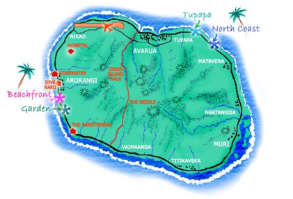 Rarotonga Backpackers property locations