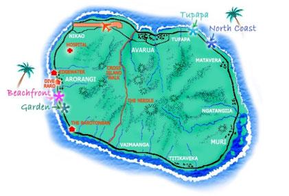 Rarotonga Backpackers property locations