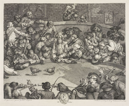 The cock pit by William Hogarth, Royal Collection