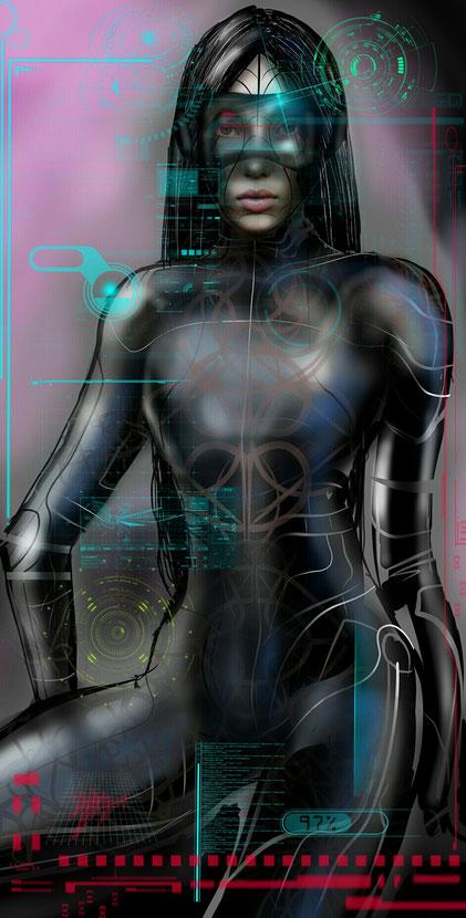 A cyber lady