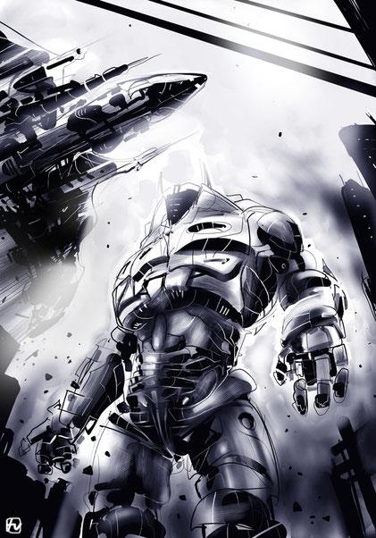 Mega-robot, a study