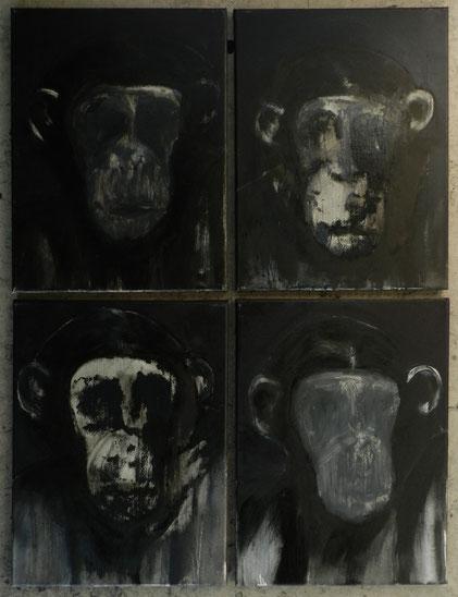 apen monkeys (4 X 30 cm. x 40 cm.)