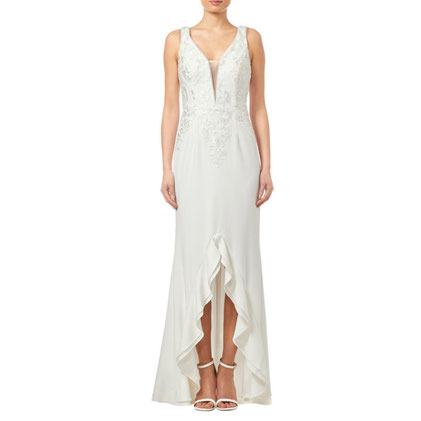 Adrianna Papell Embroidered Gown, Ivory