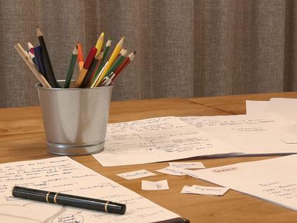 Merangasse, Schreibwerkstatt, online-zoom-Schreiben, Stifte, bunt, Vorhang auf, Feedback, lautes Lesen
