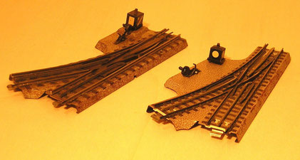 3600 W, links Vorkriegsgleis, rechts Nachkriegsgleis
