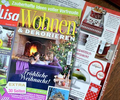 """LISA WOHNEN & DEKORIEREN 12/2013, Stempel """"Homemade"""""""
