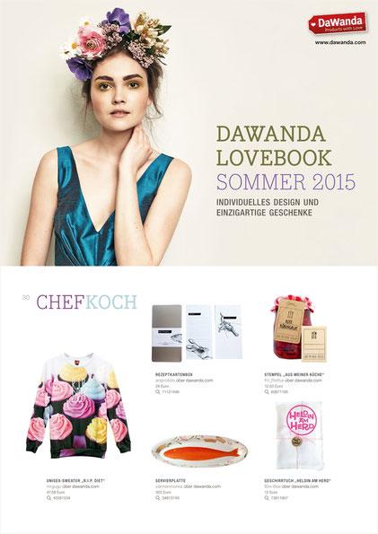 """DAWANDA LOVEBOOK SOMMER 2015, Stempel """"Aus meiner Küche"""""""