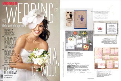 WOMAN WEDDING 2015/2016, PR Hochzeitspapeterie