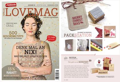"""DAWANDA LOVEMAG WINTER 2014, Stempel """"Hausgemacht"""" & """"Aus meiner Küche"""""""