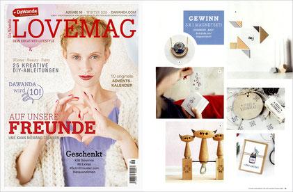 "DaWanda LOVEMAG Winter 2016, Stempel ""Frohe Weihnacht"""
