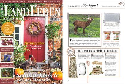 "LAND LEBEN, Ausgabe 5/2017, Stempel ""Küchengruß"""