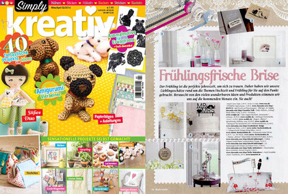 "SIMPLY KREATIV 02/2016, Stempel ""Spatzenpaar"" & ""Save the Date"""