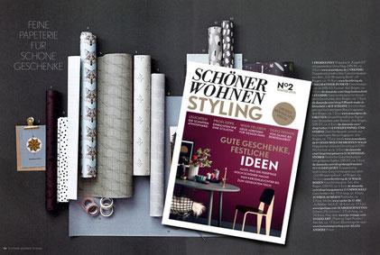 SCHÖNER WOHNEN STYLING Winter 2016, Geschenkpapier