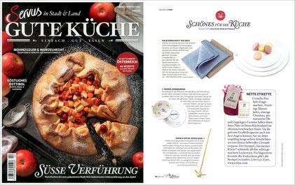 """SERVUS - GUTE KÜCHE HERBST/WINTER 2014, Stempel """" Aus meiner Küche"""""""