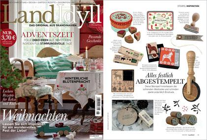 """LANDIDYLL 06/2015, Stempel """"Frohe Weihnacht"""""""