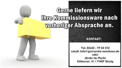 Lieferpauschale von 25,00€/50,00€ | Lieferung & Abholung.