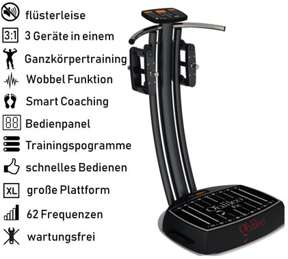Vibrationsplatte Galileo Fit Extreme, Vibrationstrainer, Galileo Training, gebraucht, kaufen, Preise, Preis, Test, Vertrieb: www.kaiserpower.com
