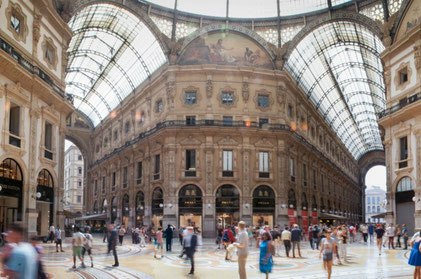 Shopping in Milan Copyright Mike and Annabel Beales