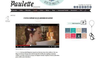 Le headband, les b.o. Paon et le bracelet Ginger Rockers sont dans l'épisode 26 du blog Les Mercredis de Daphné avec le magazine Paulette en octobre 2012