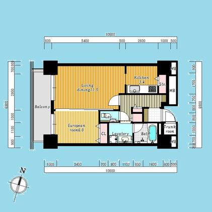 D'グラフォート札幌ステーションタワー1110号室-D'GrafortSapporoStationTower-1110