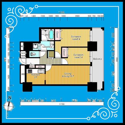 D'グラフォート札幌ステーションタワー1702号室-D'GrafortSapporoStationTower-1702